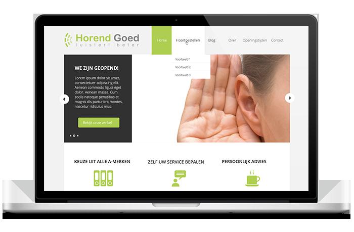 Website van Horend Goed